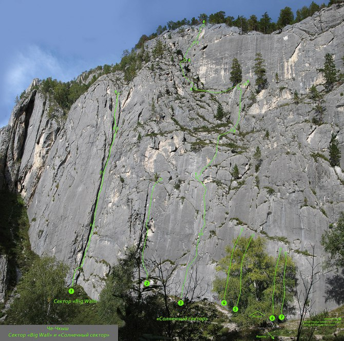 скалы вертикаль
